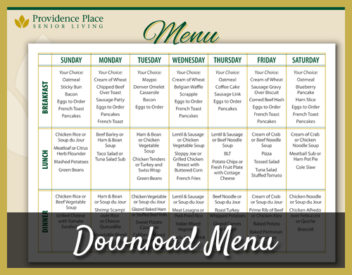 Download Menu