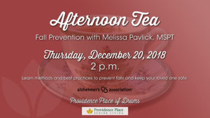 Afternoon Tea — Fall Prevention with Melissa Pavlick, MSPT